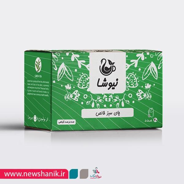 چای سبز خالص کیسه ای