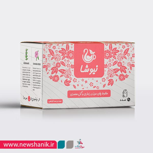 چای سبز و رزماری و گل محمدی