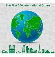 ثبت 200 سفارش بین المللی