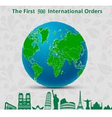 ثبت 500 سفارش بین المللی